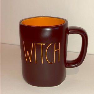 Rae Dunn Witch Mug Orange inside